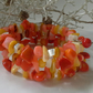 Orange Mother of Pearl & Coral Wrap Bangle  FREESIZE