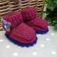 Baby Girl's 'Jaeger' Pure Marino Wool Booties 0-6 months