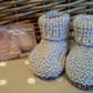 Newborn Baby Boy's Booties with Marino Wool