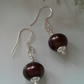 Large 12mm Bronze Borgue Freshwater Pearl Sterling Silver Earrings
