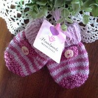 Baby Girl's Mittens  6-12 months size