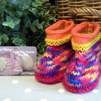 Funky Unisex Baby Ankle Booties  3-9 months size
