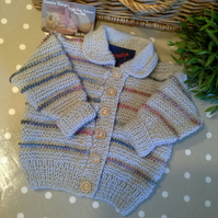 Baby Unisex Cardigan with Marino Wool  9-18 months size