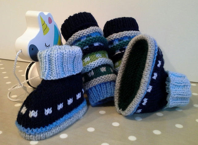 Baby Booties and Leg Warmer Set 3-9 months size