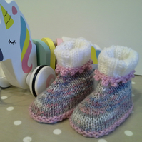 Baby Girl's Booties  0-6 months size