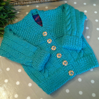 Baby Girl's Cable Design Cardigan  0-9 months size