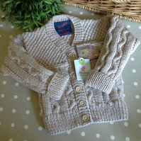 Unisex  Cable Design Cardigan  2 YEARS size
