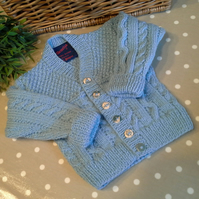 Baby Boys Cable Design Cardigan  9-18 months size