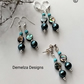 Abalone Shell, Howlite & Shell Pearls Stud Earrings  Silver Plate