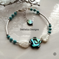 Abalone Shell, Howlite, Natural Mother of Pearl Bracelet