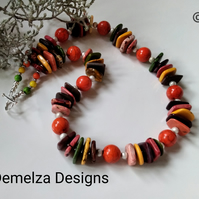 Chunky Howelite Statement Necklace