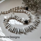 Statement White Howelite Necklace
