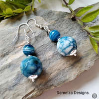 Agate Silver Plated Earrings