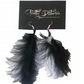 PRETTY DISTURBIA ORIGINAL HANDMADE FEATHER EARRINGS PUNK GRUNGE