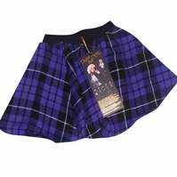CHILDREN'S PRETTY DISTURBIA PURPLE HANDMADE TARTAN FULL CIRCLE PUNK GRUNGE SKIRT