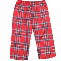 PRETTY DISTURBIA CHILDREN'S KIDS HANDMADE CROPPED TROUSERS PUNK GRUNGE TARTAN C