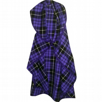 CHILDREN'S PURPLE TARTAN HANDMADE CAPE PUNK GRUNGE CHECKED