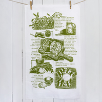 Sourdough story tea towel