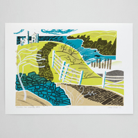 """""""Along the Coastal Path"""" limited edition hand pulled screen print"""