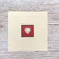 Handmade birthday or valentines card - pearl heart and diamonds