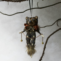 Bailey bear art doll hanging decoration