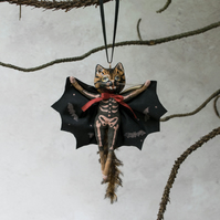 Klaus the miniature vampire bat cat luxury Halloween decoration