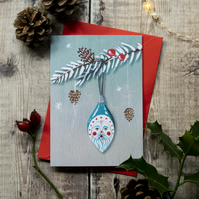 Father Frost Christmas greeting note card, A6