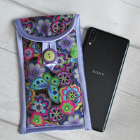 Funky Purple Floral Glasses or Phone Case