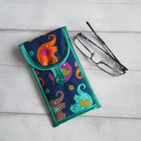 Colourful Elephants Glasses or Phone Case