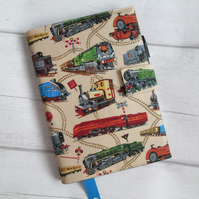 A5 Steam Engine Reusable Notebook Cover