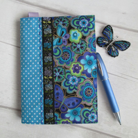 SOLD - A6 Reusable Butterflies & Dragonflies Patchwork Notebook or Diary Cover