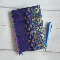 A6 Reusable Patchwork Notebook or Diary Cover