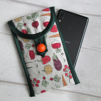 SOLD - Vegetables Glasses or Phone Case, Storage Pouch