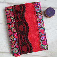 A6 Kaffe Fassett Millefiori Patchwork Notebook or Dairy Cover