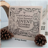 Christmas Countdown - Colour Yourself - Advent Calendar Colouring Book