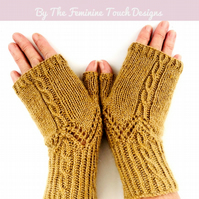 Fingerless Gloves Knitting Kit - Wool & Alpaca