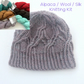 Flower Cable Hat Knitting Kit