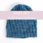 Slouchy Beanie Hat knitting kit with hand dyed yarn
