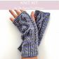 Cable Fingerless Gloves Knitting Kit