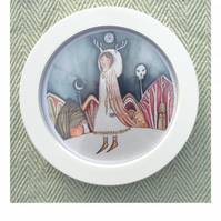 Samhain limited edition print in round frame
