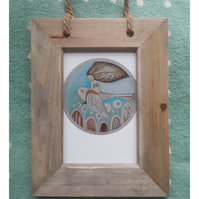 Free spirit small print in driftwood frame