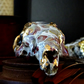 Decorated Rabbit Skull - Skull Art - Encaustic Art