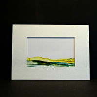 Abstract Wax Art Painting - Mounted Painting - Mountains - Scotland