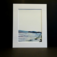 Original Wax Art Painting - Scottish Scenery - Mounted Painting