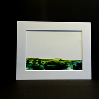 Mounted Original Wax Art Painting - Mountains - Scotland