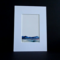 Original Wax Painting - Abstract Landscape - Scotland