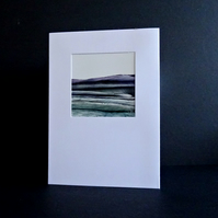 Blank Card - Original Wax Painting - Scotland