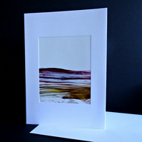Blank Greetings Card - Original Wax Painting - Scotland