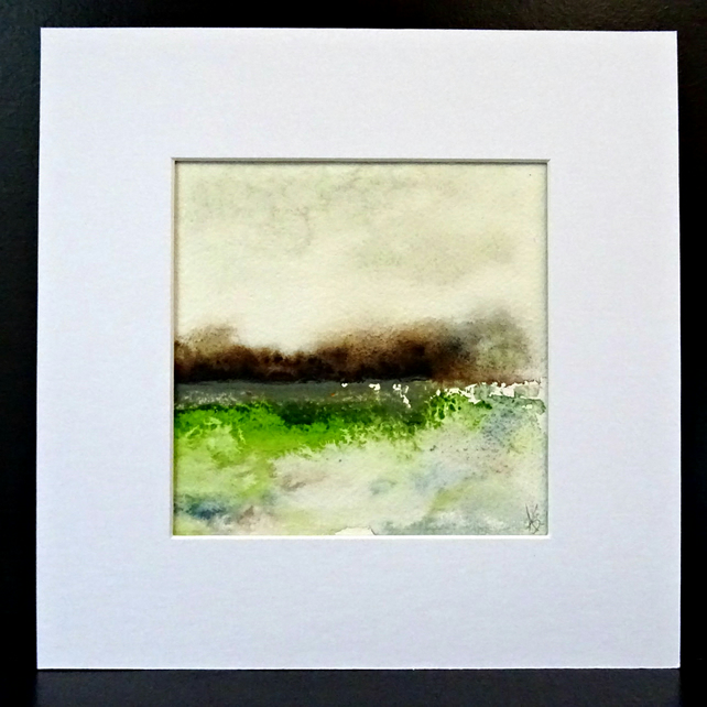 Original Mounted Watercolour Painting - 100% Cotton Paper