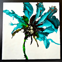 Abstract Flower Painting - Scotland
